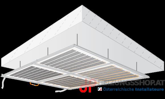 Deckenheizung/Kühlung abgehängt, Akustik