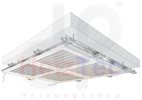 Deckenheizung/Kühlung, Akustik