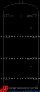 Pufferspeicher ACM mit Vlies-Isolierung