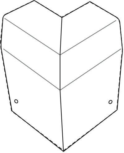 Eck-Verkleidung DELTA für Heizleisten