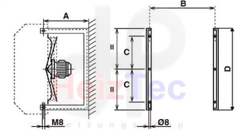 Sabiatech Wandkonsole passend zu Luftheizer