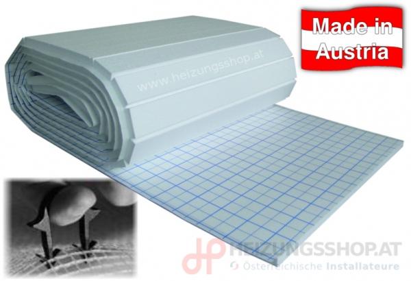 Isoliermatte für Fußbodenheizung