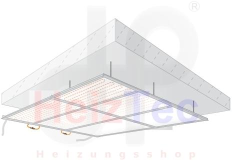 Deckenheizung/Kühlung abgehängt, glatte Oberfläche