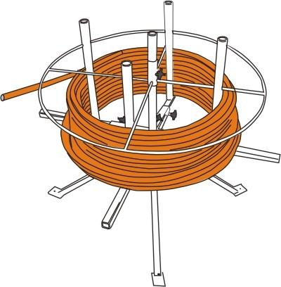 Rohrhaspel für die Einmann-Montage