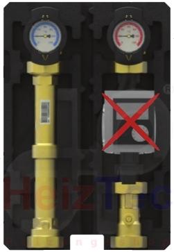 PAW Pumpengruppe DN25 direkter Heizkreis
