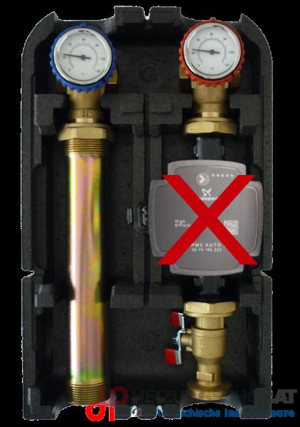 Pumpengruppe für ungemischten Kreis - ohne Pumpe