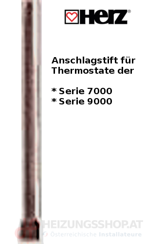 Herz Anschlagstift für Thermostatköpfe