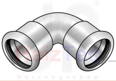C Stahl PressBogen 90°