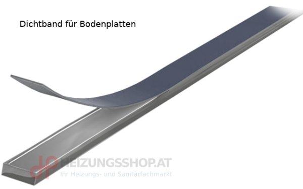 Glasplatten-Dichtung transparent, per Meter
