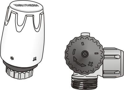 Thermostatventil mit Entlüftung
