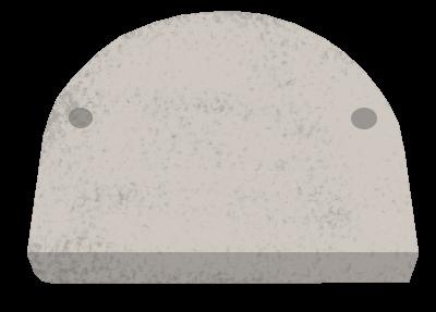 Atmos Aschentür-Keramikstein für DC18S bis DC40GS