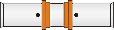 Presskupplung für Variomodul-Rohr