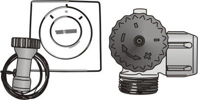 Thermostatventil mit Fernfühler und Entlüftung