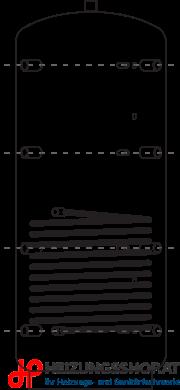 Pufferspeicher ACR mit Register und Vlies-Isolierung