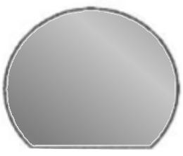 Stahlplatte Kreisabschnitt