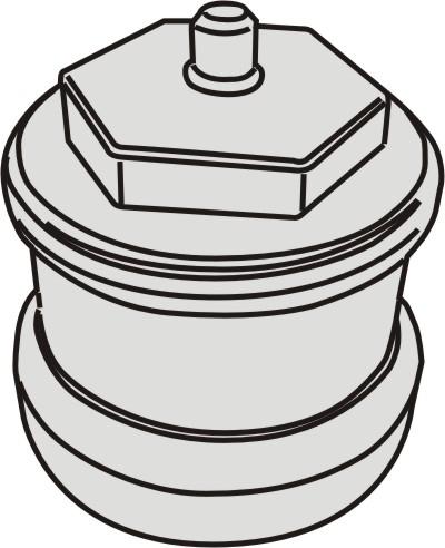 Verlängerung Termostatkopf 20mm