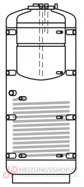 Kombispeicher PRO 1-Register inkl. Vliesisolierung