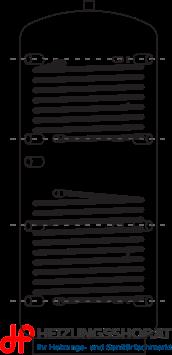 Pufferspeicher ACRR mit 2 Register und Vlies-Isolierung