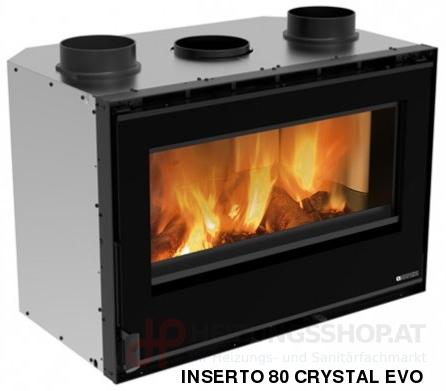 Kamineinsatz Inserto 80 Crystal Evo 2.0 - Ventilato