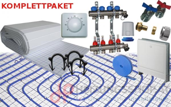 Fußbodenheizung Komplettsystem - Tackersystem