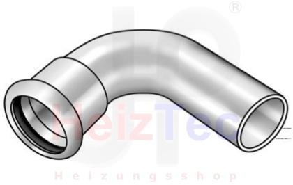 C Stahl PressBogen 90° I/A
