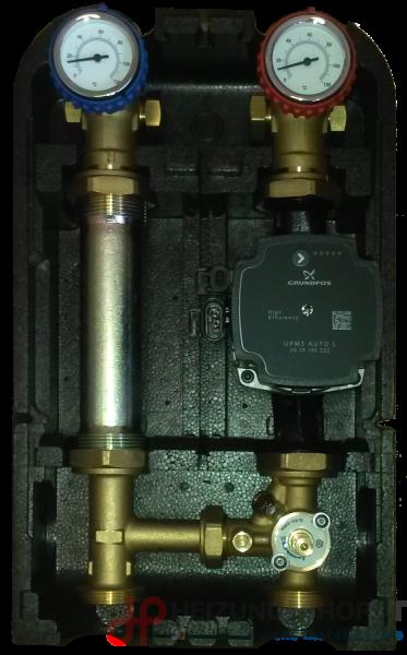 Pumpengruppe für gemischten Heizkreis - mit Pumpe