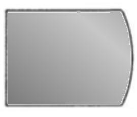 Glasplatte, flacher Bogen