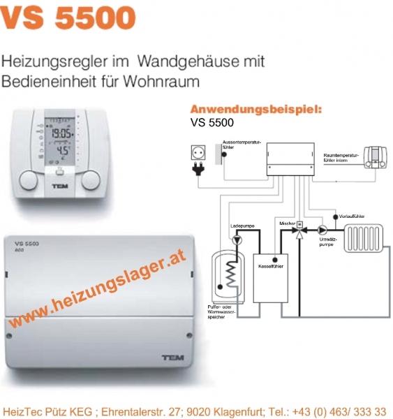 HeizTec Außentemperatursteuerung für 1x Mischer und WW