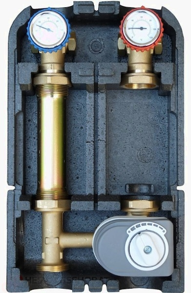 Pumpengruppe für gemischten Heizkreis - ohne Pumpe